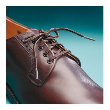 2 paires de lacets élastique marron 60 cm