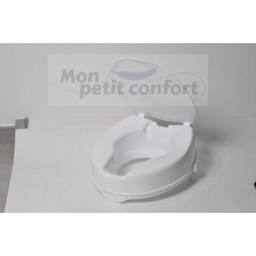 Surélévateur de toilettes IBIZA avec couvercle 15  cm