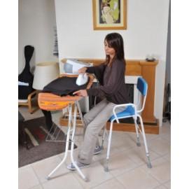 chaise haute règlable avec accoudoirs
