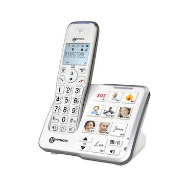 Téléphone fixe sans fil avec photos
