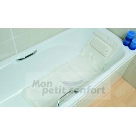 Tapis de bain avec appui tête